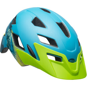 Bell Sidetrack Cykelhjälm Barn matte blue/bright green